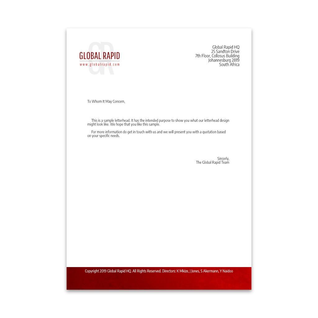 Letterhead Design & Printing from Light Art Studios